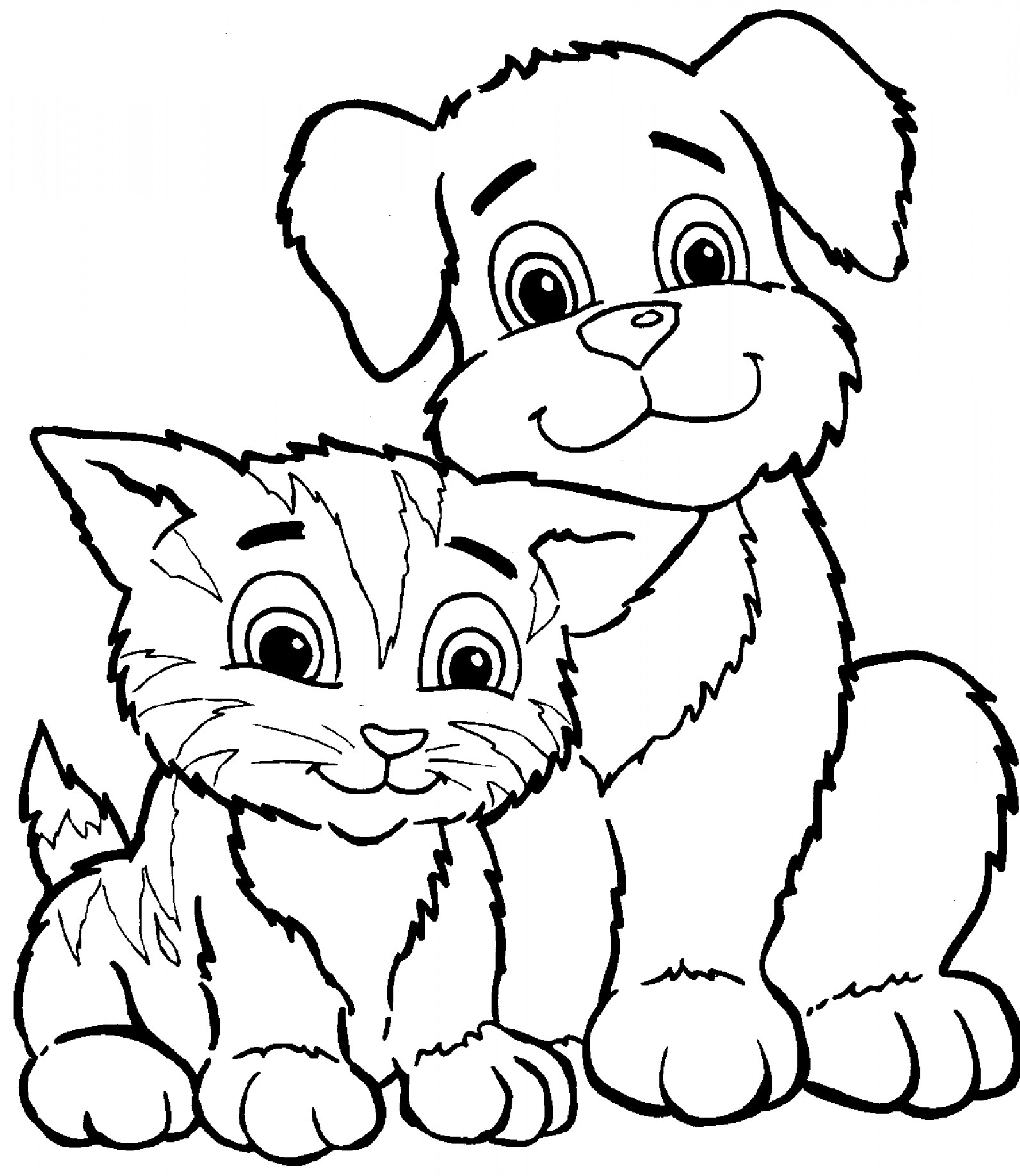1064 Dog And Cat free clipart.