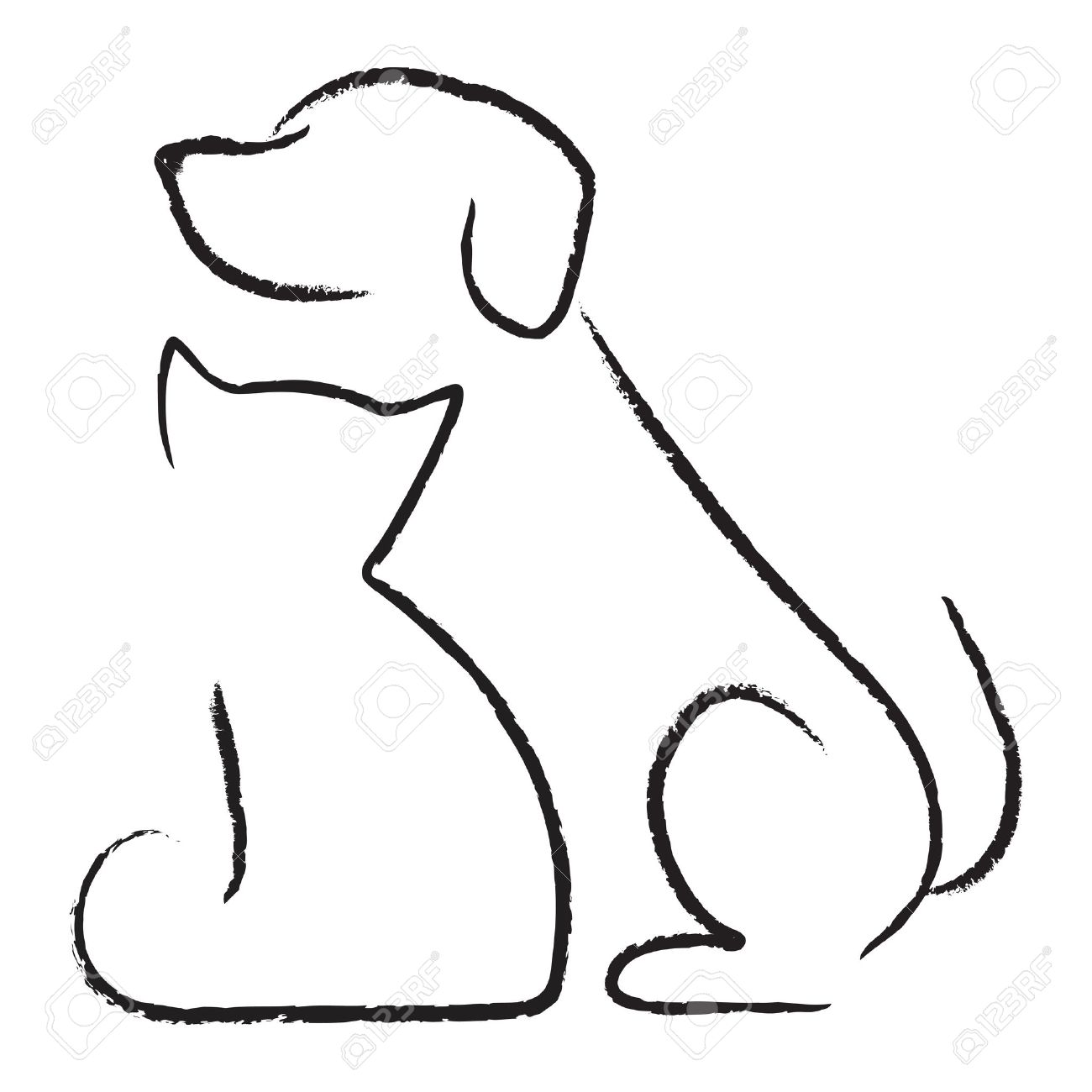 Free Black And White Dog And Cat Clipart.
