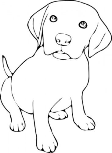 295 Dog Black And White free clipart.