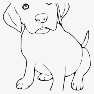 Free Dogs Black And White Clip Art with No Background.