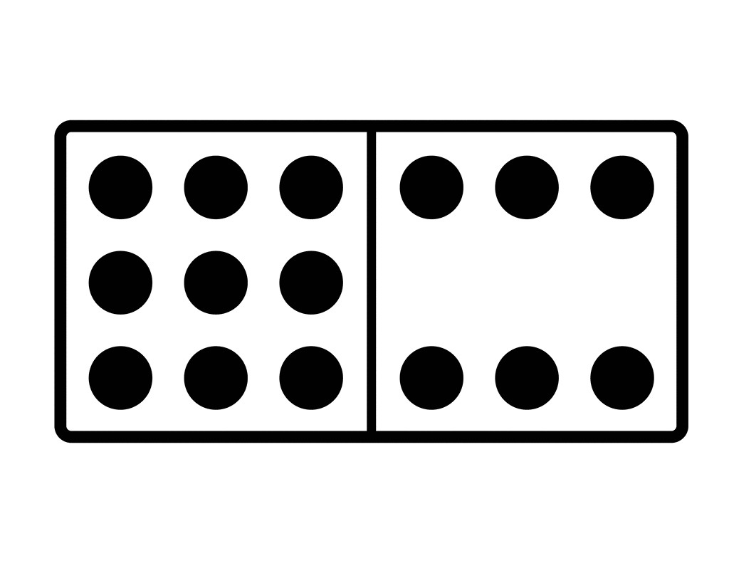 Domino clipart black and white 1 » Clipart Station.