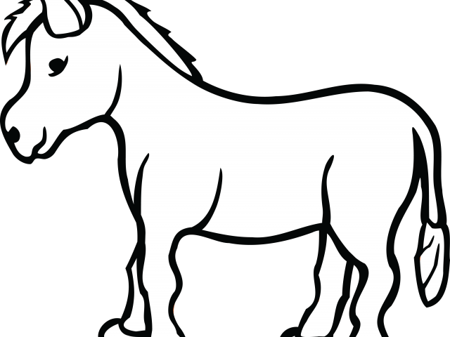 HD Donkey Clipart Outline.