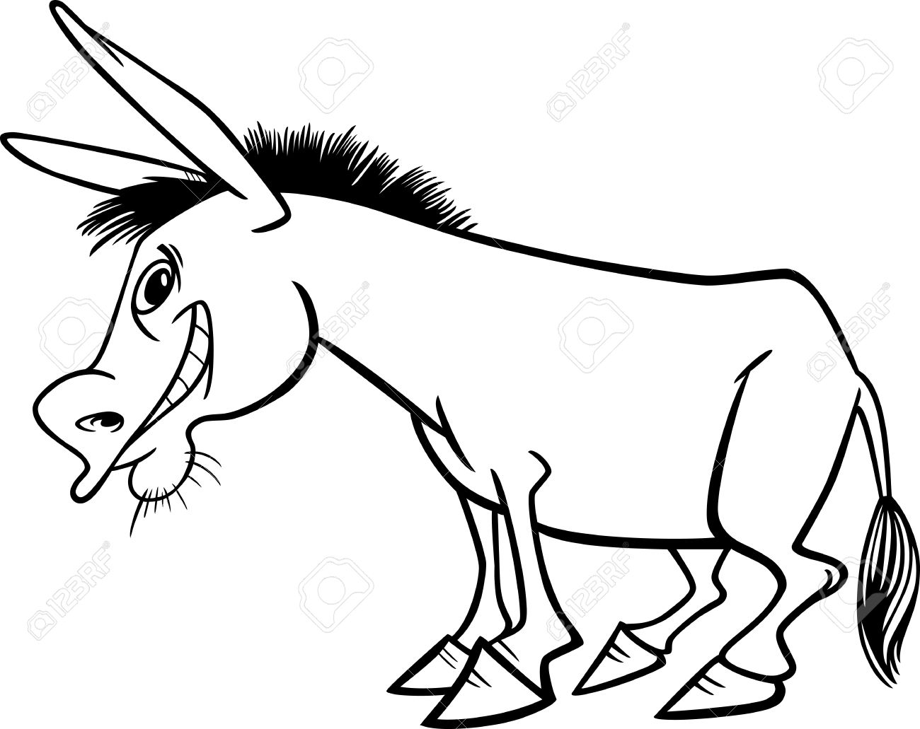 Black and white donkey clipart 2 » Clipart Station.