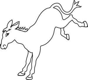 Donkey clipart black and white #17.