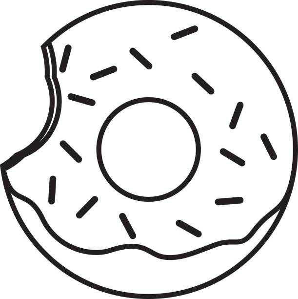 Donut Clipart Black And White.