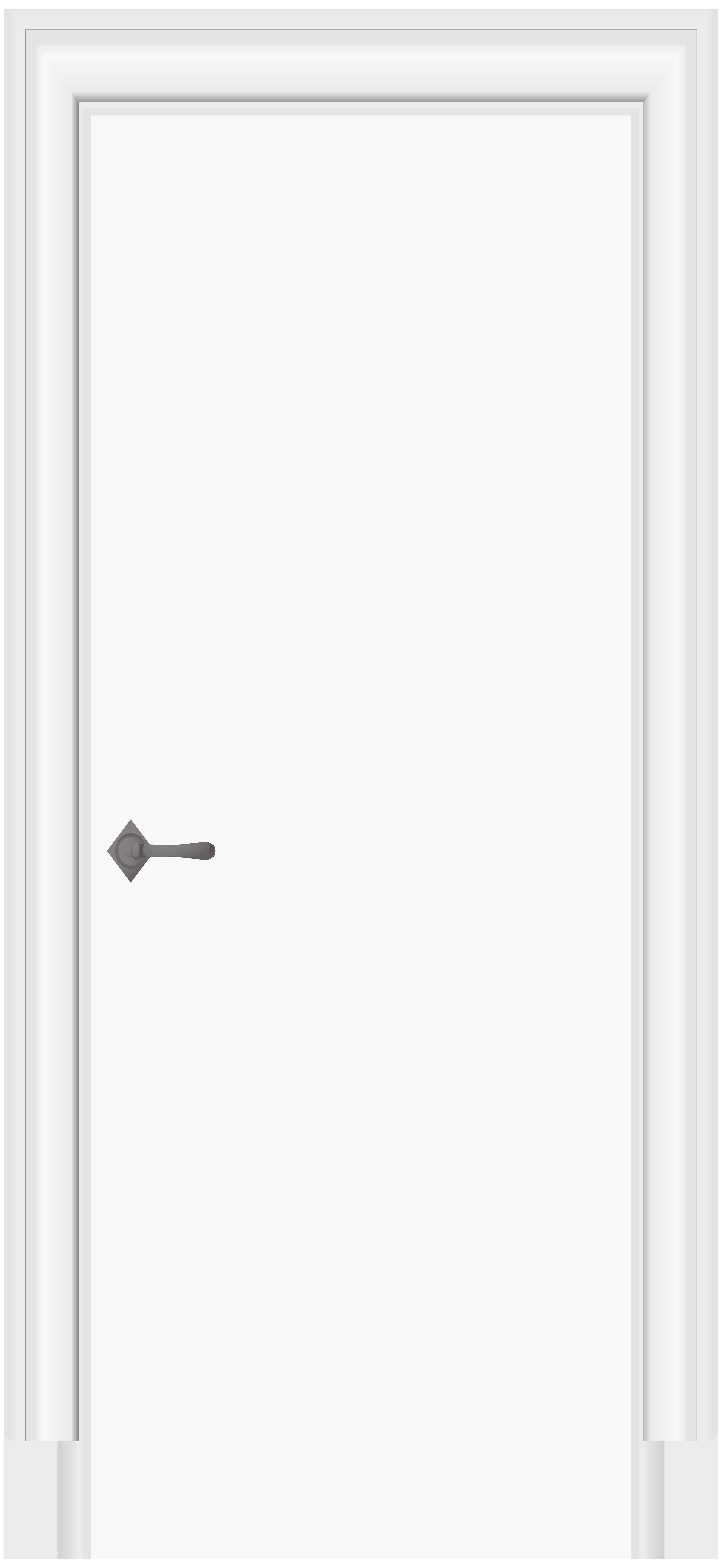 White Door PNG Clip Art.