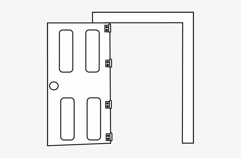 Door Clipart Black And White.