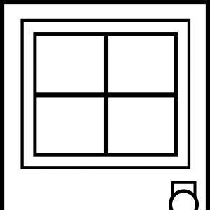 Office Door Clip Art Outline.