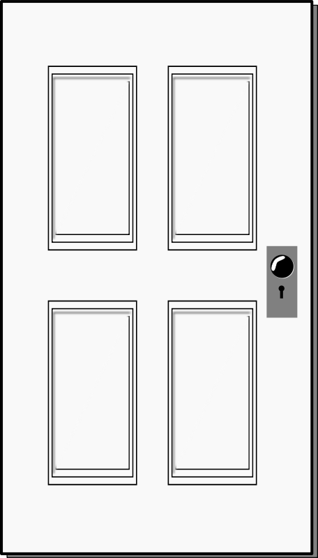 Door Clipart Black.