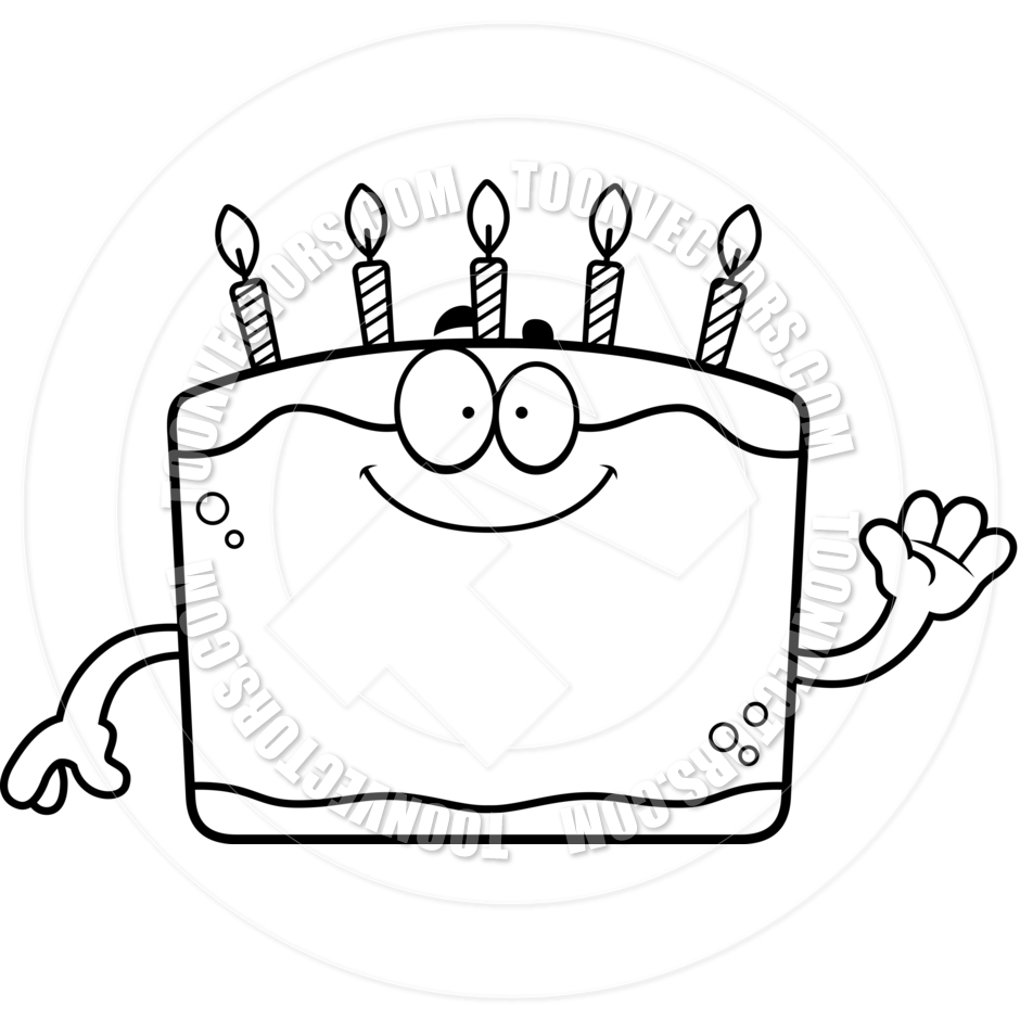Birthday Cake Clipart Black And White Free.