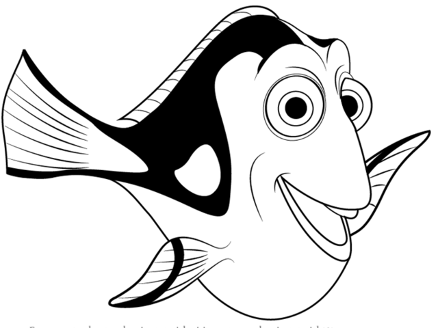 Nemo Fish PNG Black And White Transparent Nemo Fish Black.