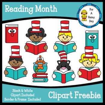 Reading Month (Dr. Seuss) Clipart Freebie.