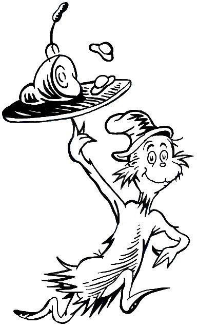 Dr Seuss Black And White.