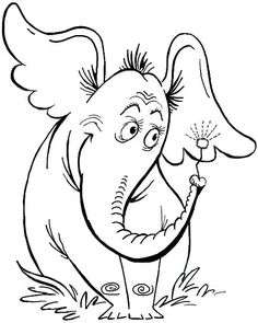 Dr seuss black and white clipart 12 » Clipart Station.