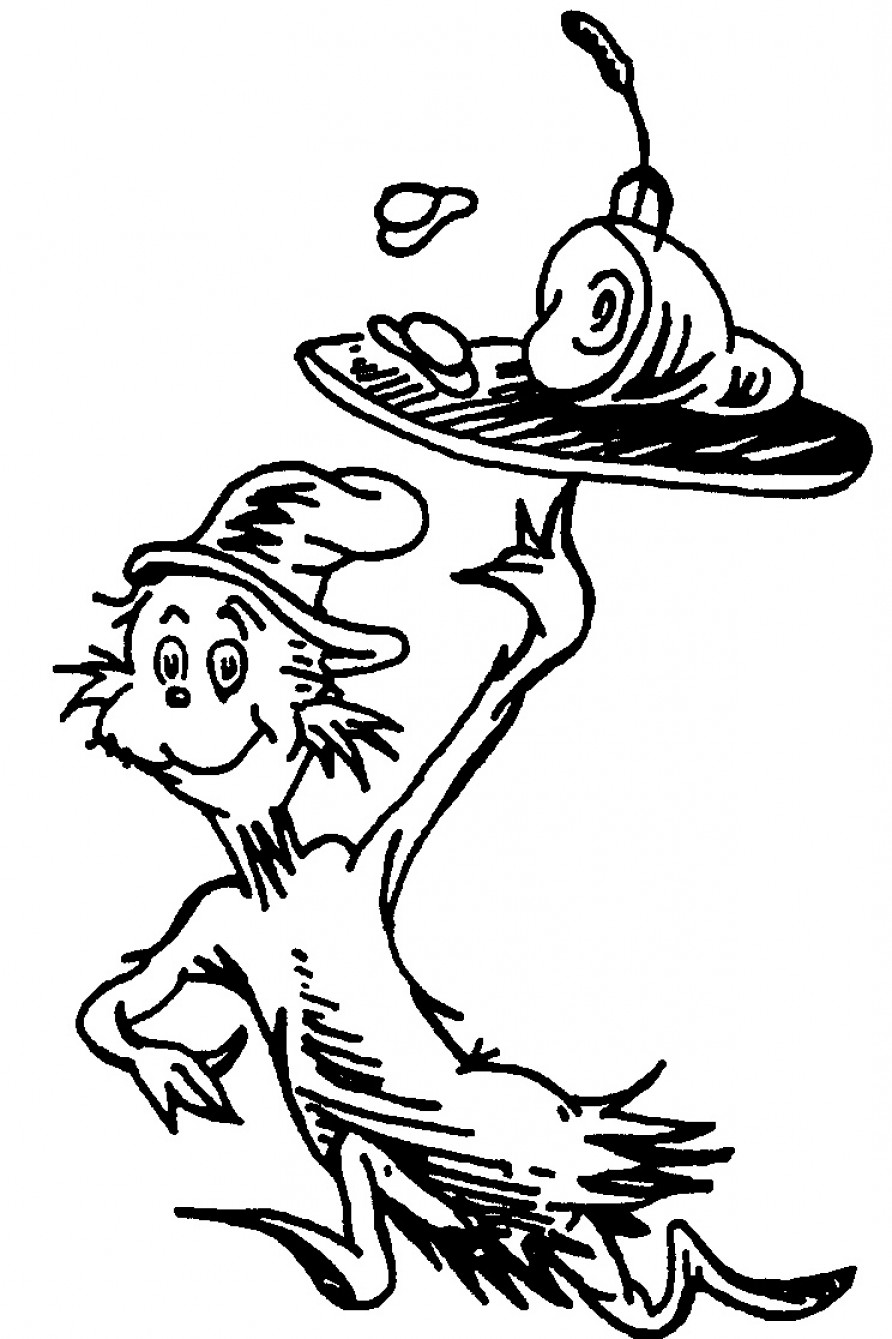 Dr Seuss Black And White Cliparts.