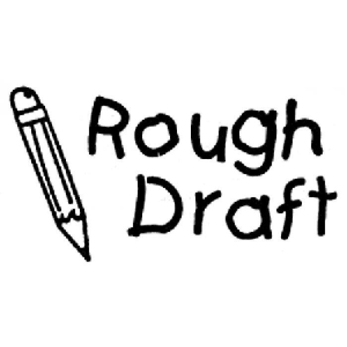 Rough Draft Clipart.