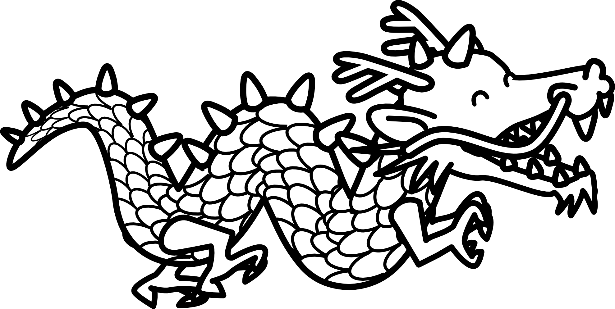 Dragon clipart black and white » Clipart Station.