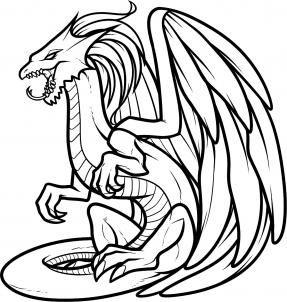 Dragon Black And White Clipart.