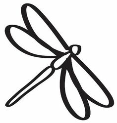 Dragonfly Clipart Black And White Free.