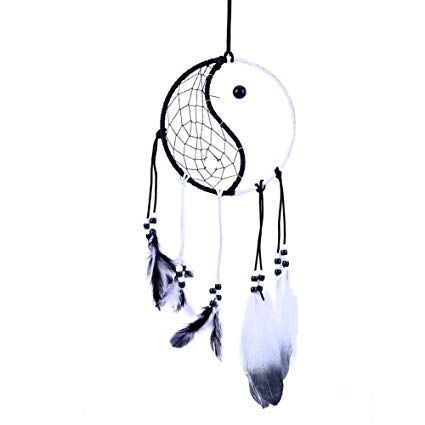 Amazon.com: Asiproper Handmade Black White Dream Catcher.