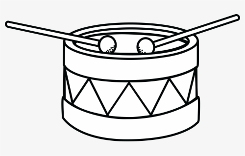 Free Drum Black And White Clip Art with No Background.