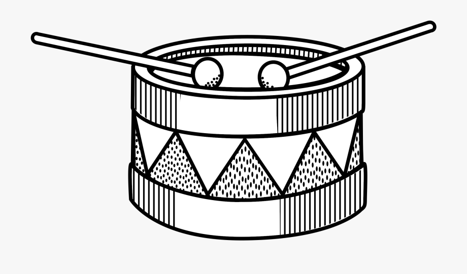 Drum Lineart Big Image Png.
