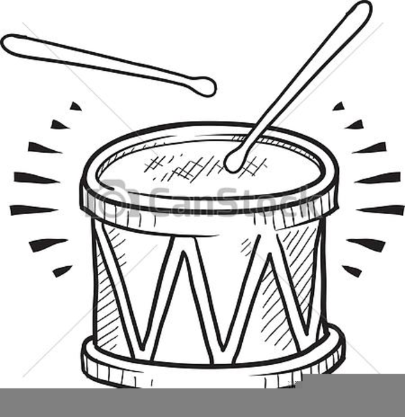 Drum Clipart Black And White.