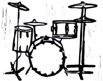 Free Drums Clipart Black And White, Download Free Clip Art.
