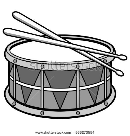 Drum clipart black and white 8 » Clipart Station.