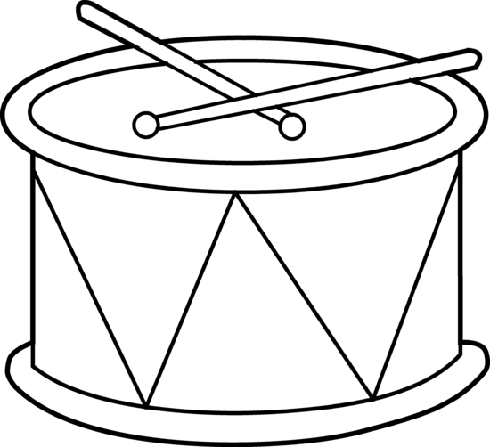 Drums Clipart Black And White.