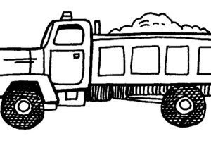 Dump truck clipart black and white 3 » Clipart Station.