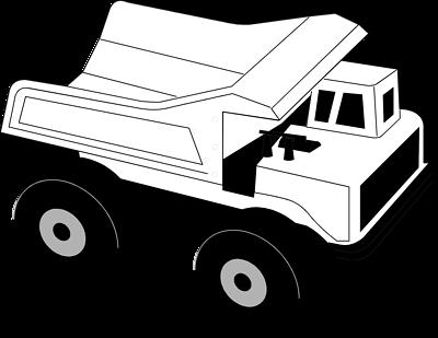 Truck black and white dump truck clipart black and white.