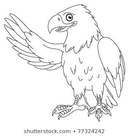 Cute Eagle Clipart Black And White & Free Clip Art Images #29596.