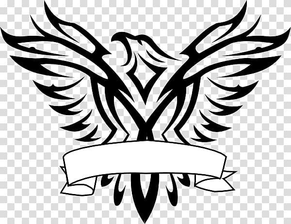 Black bird illustration, Bald Eagle Logo Black.