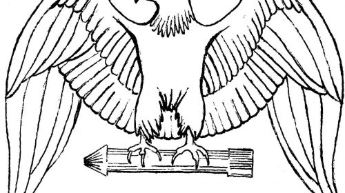 Black And White Eagle Clipart.