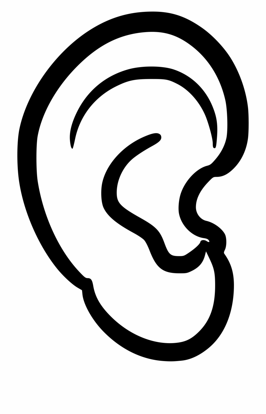 Download High Quality ear clipart black and white.