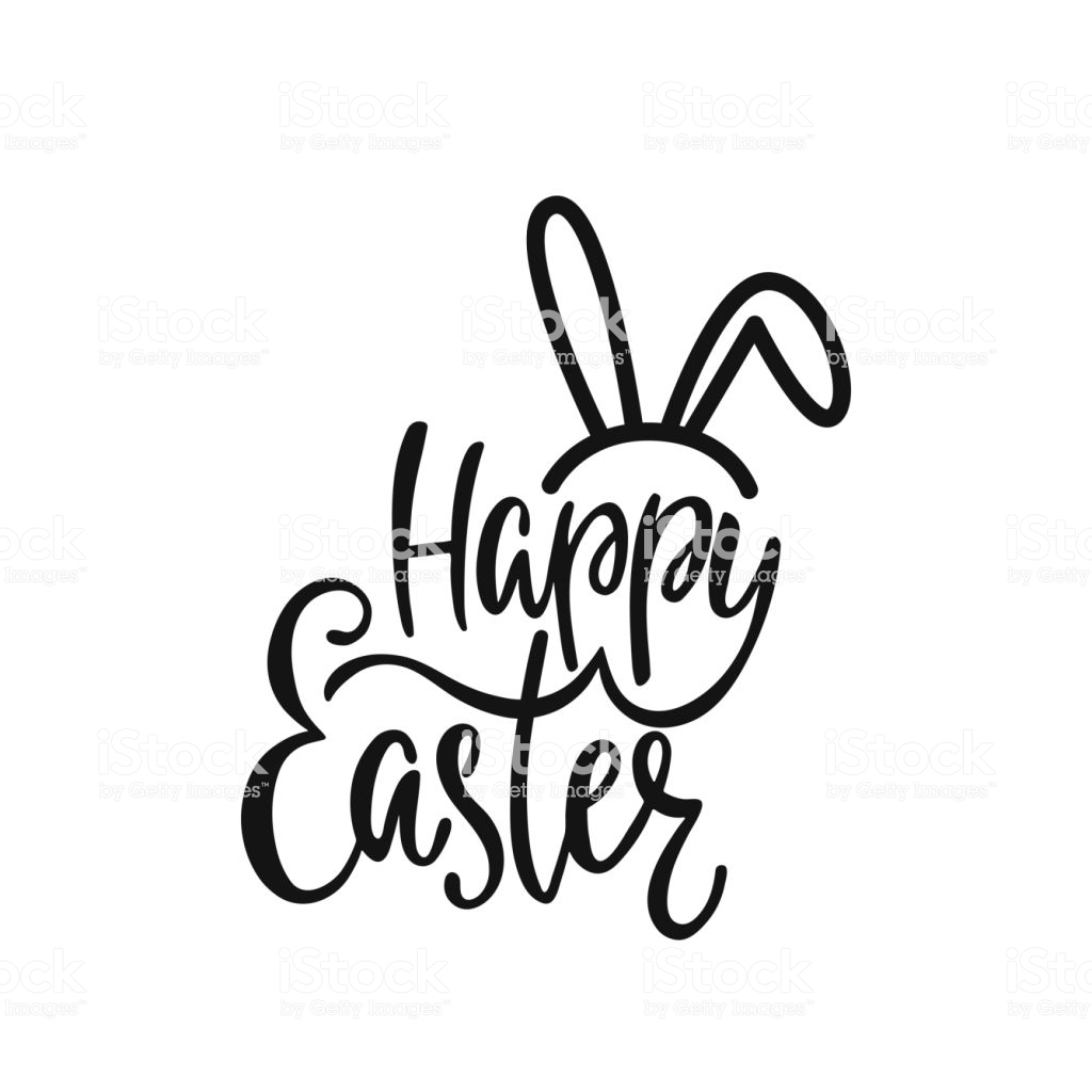 Happy Easter Clipart Black And White (96+ images in Collection) Page 2.