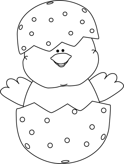 Free Easter Clip Art Black and White.