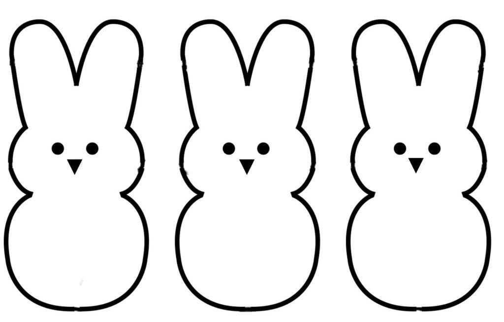 Easter clip art outline.