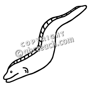 Clip Art: Eel B&W.