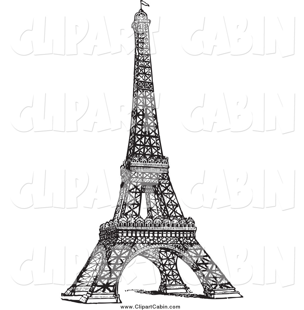 1701 Eiffel Tower free clipart.