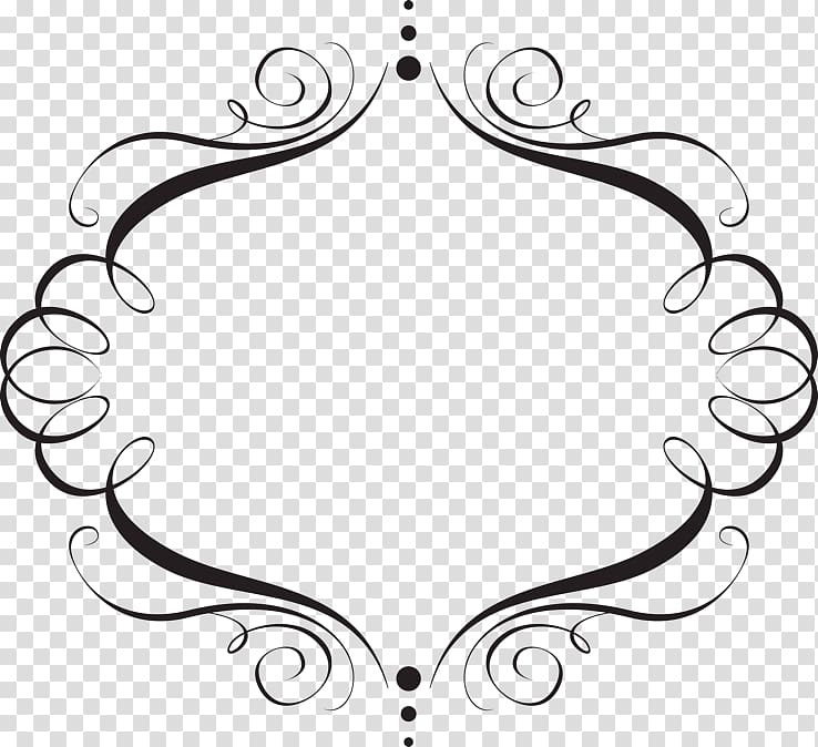 Black border frame decor illustration, Wedding invitation.
