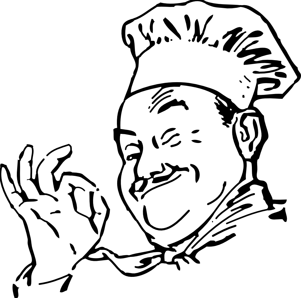 Cook Clipart Black And White.