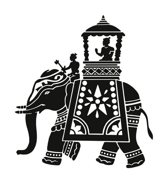Top Black And White Elephant Clip Art Vector Graphics Outstanding.