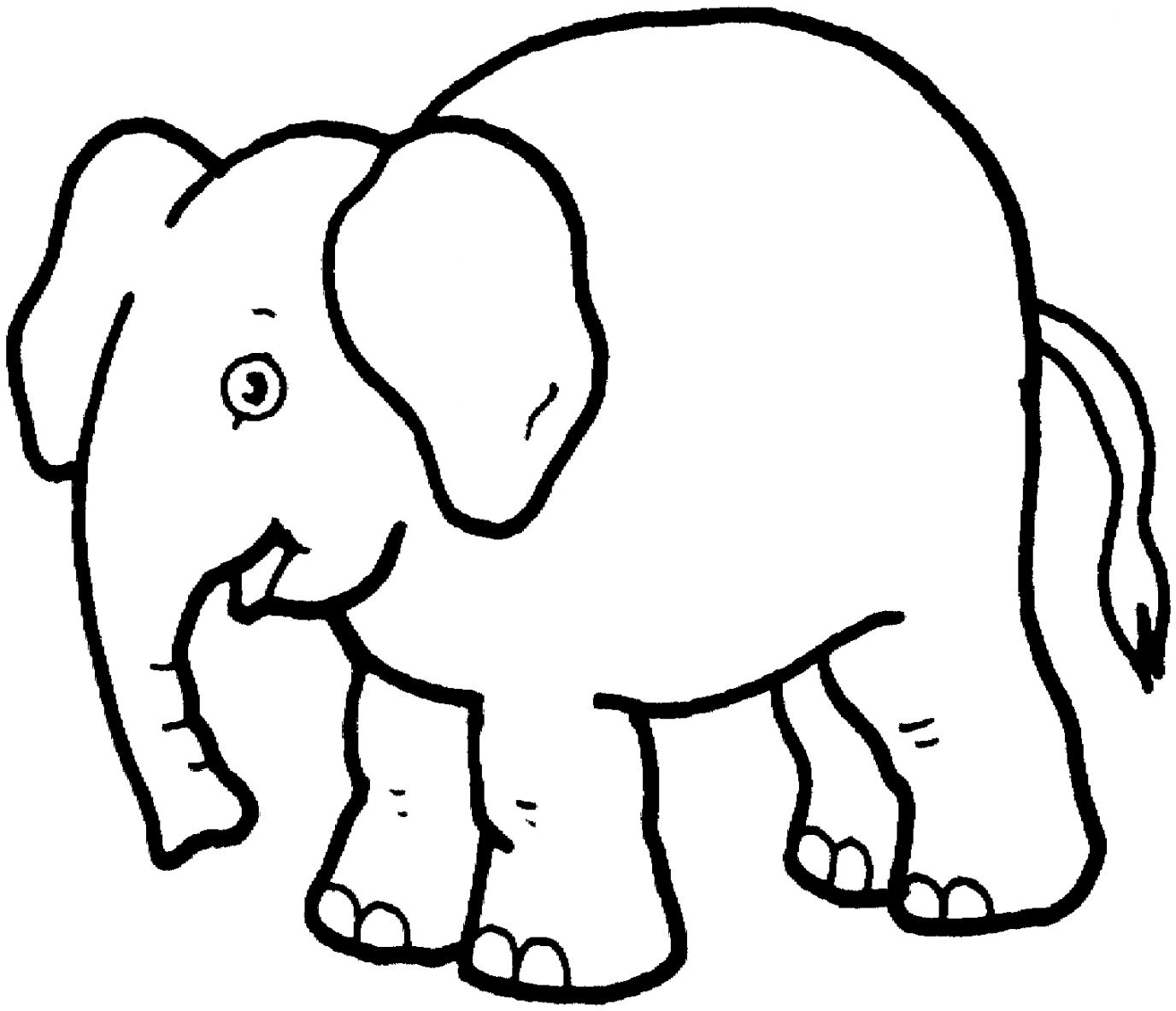Elephant Clipart Black And White.