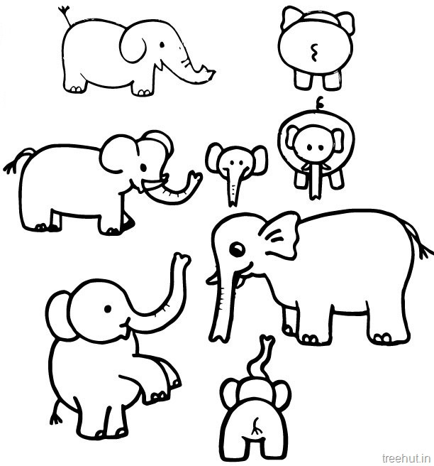 Elephant black and white elephant clipart.