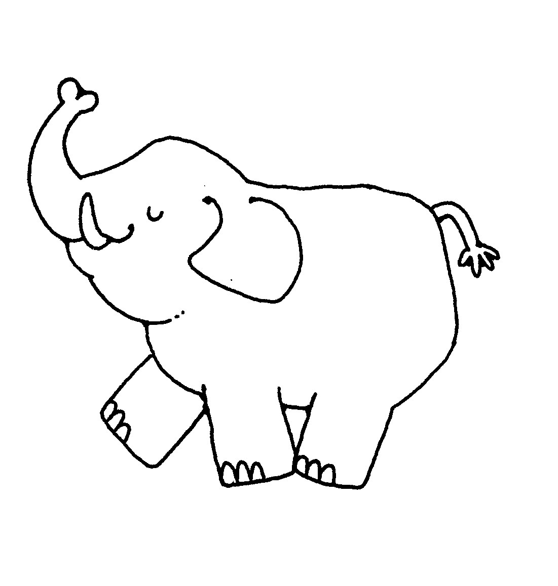 Black and white elephant clipart 3 » Clipart Portal.
