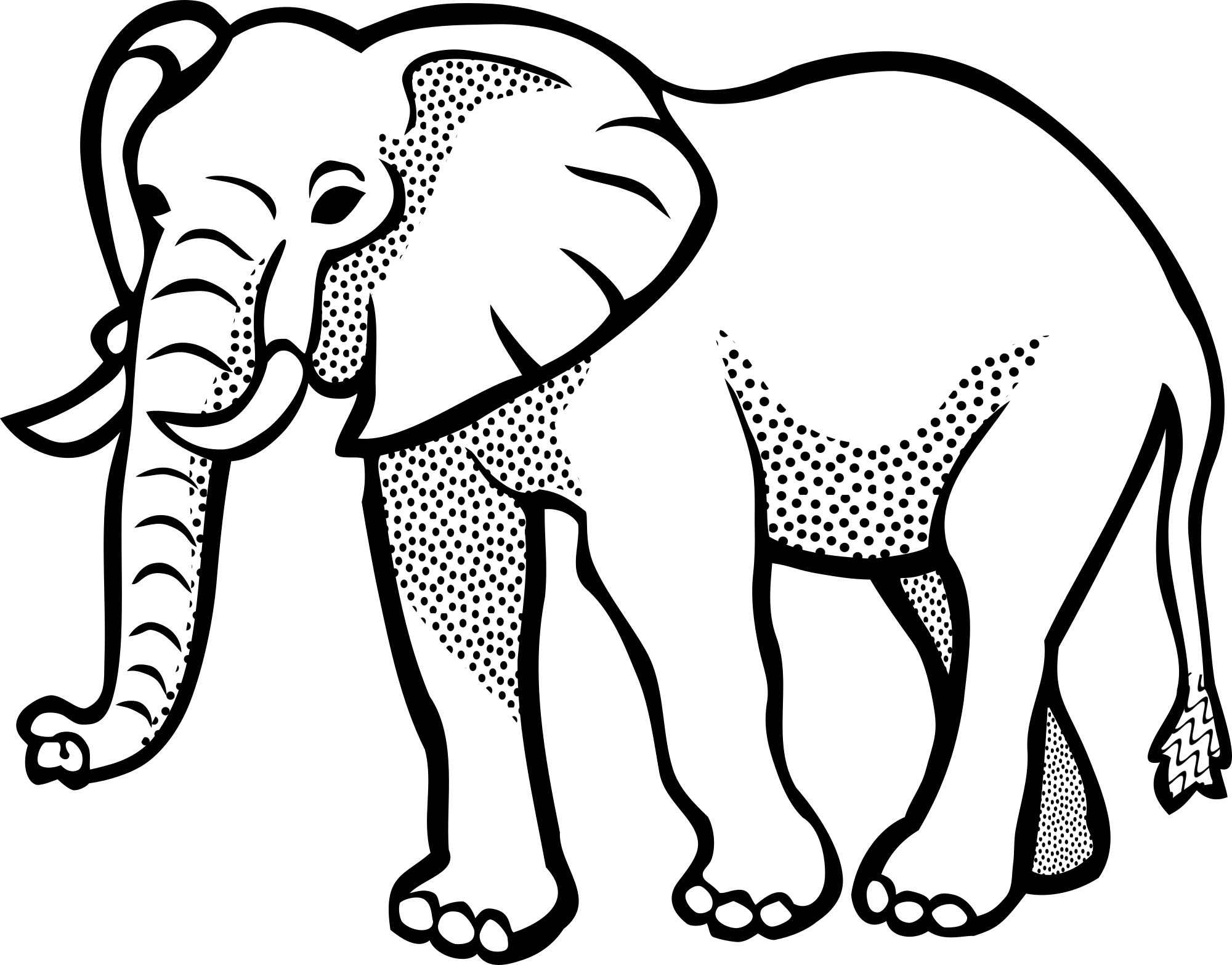 87+ Elephant Clipart Black And White.