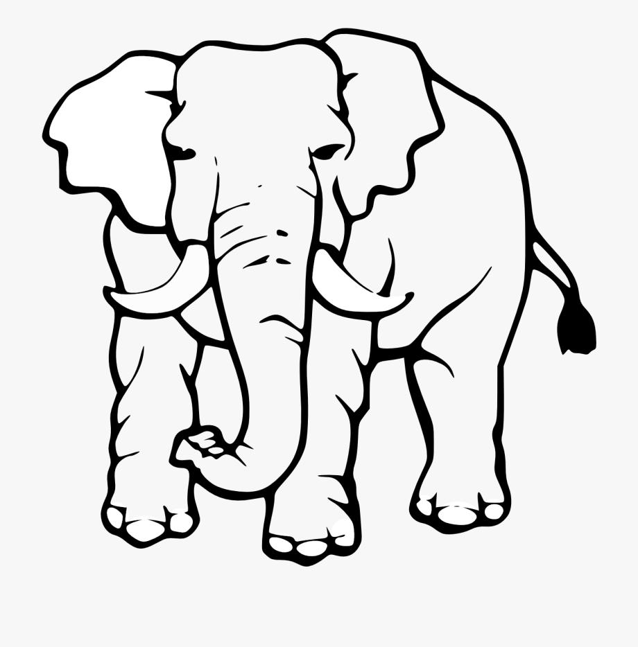 Elephant Black And White Elephant Clipart Black And.