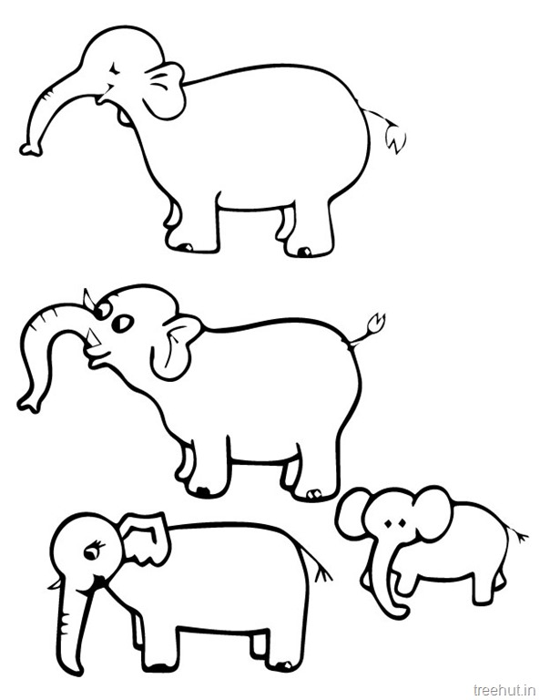 Elephant Clip Art Black And White Group (+), HD Clipart.